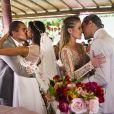 O casamento das irmãs Joana (Aline Dias) e Bárbara (Barbara França) emocionou o público no último capítulo da novela 'Malhação: Pro Dia Nascer Feliz'