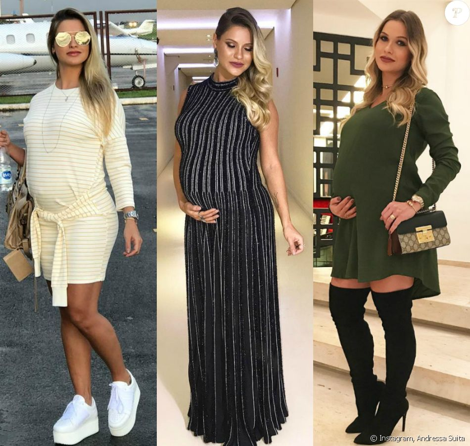 0d957acbfe47 Veja o estilo de Andressa Suita, mulher do sertanejo Gusttavo Lima, durante  a gravidez