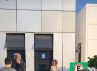 Luciano Huck filma Sandy indo a banheiro público durante gravação: 'Tá fechado'
