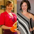 A atriz Guta Stresser em 'A Grande Família', à esquerda, e atualmente, à direita, depois de perder 15 quilos