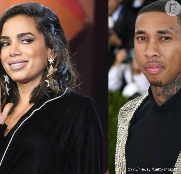 Anitta e o rapper Tyga foram vistos juntos na noite desta quarta-feira, 10 de maio de 2017, em Los Angeles, nos EUA