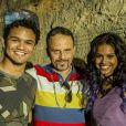 Em 2014, Aline Dias participou da série 'O Sexo e as Negas' com Land Vieira, irmão de Heslaine