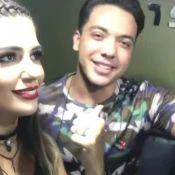 Ex-BBB Vivian canta com Wesley Safadão nos bastidores de show. Vídeo!