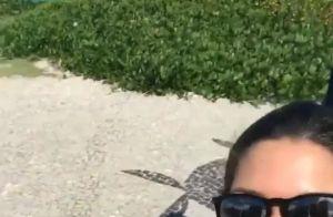 Thais Fersoza e Michel Teló levam filha, Melinda, à praia: 'Delícia'. Vídeo!