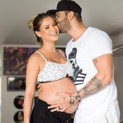Gusttavo Lima acaricia barriga de grávida de Andressa Suita: 'Todo meu coração'