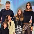 Rodrigo Faro é alvo de constates declarações da mulher, Vera Viel, e das três filhas, Clara, Maria e Helena
