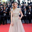 A pemiada atriz francesa Clotilde Courau de Elie Saabna cerimônia de abertura da 70ª edição do Festival de Cannes, no sul da França, nesta quarta-feira, 17 de maio de 2017