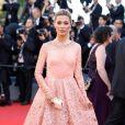A apresentadora russa Victoria Bonyana de Georges Hobeikana cerimônia de abertura da 70ª edição do Festival de Cannes, no sul da França, nesta quarta-feira, 17 de maio de 2017