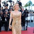 Eva Herzigova de Roberto Cavallina cerimônia de abertura da 70ª edição do Festival de Cannes, no sul da França, nesta quarta-feira, 17 de maio de 2017