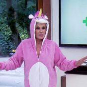 Ana Maria Braga usa pijama de unicórnio no 'Mais Você': 'É tendência!'