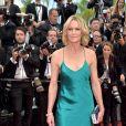 Robin Wright, do seriado 'House of Cards', vestiu Michelle Mason no segundo dia do Festival de Cannes, no Sul da França, nesta quinta-feira, 18 de maio de 2017