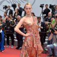 Amber Valletta de Mulberryno segundo dia do Festival de Cannes, no Sul da França, nesta quinta-feira, 18 de maio de 2017