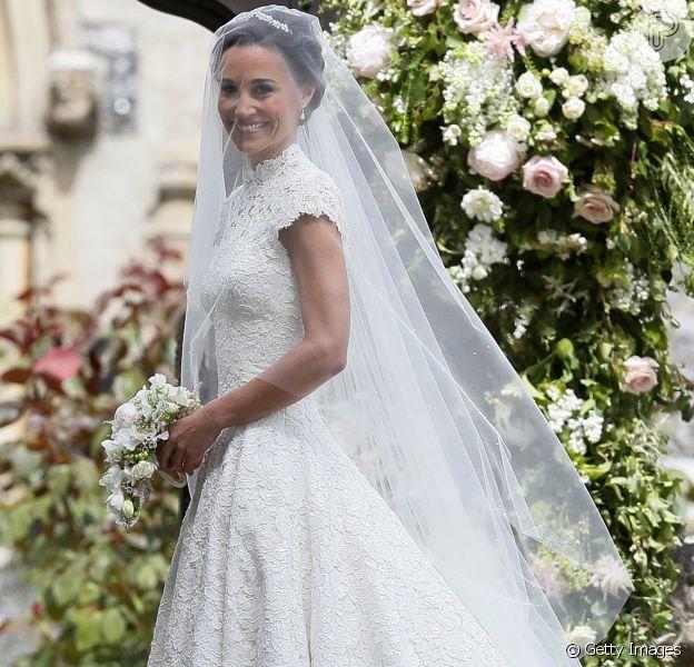 Vestido de noiva de Pippa Middleton, irmã de Kate Middleton, custou cerca de R$ 170 mil reais