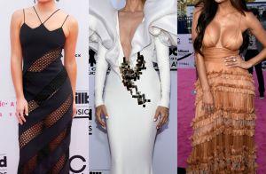 Looks com decote e transparência chamam atenção no Billboard Awards 2017. Fotos!