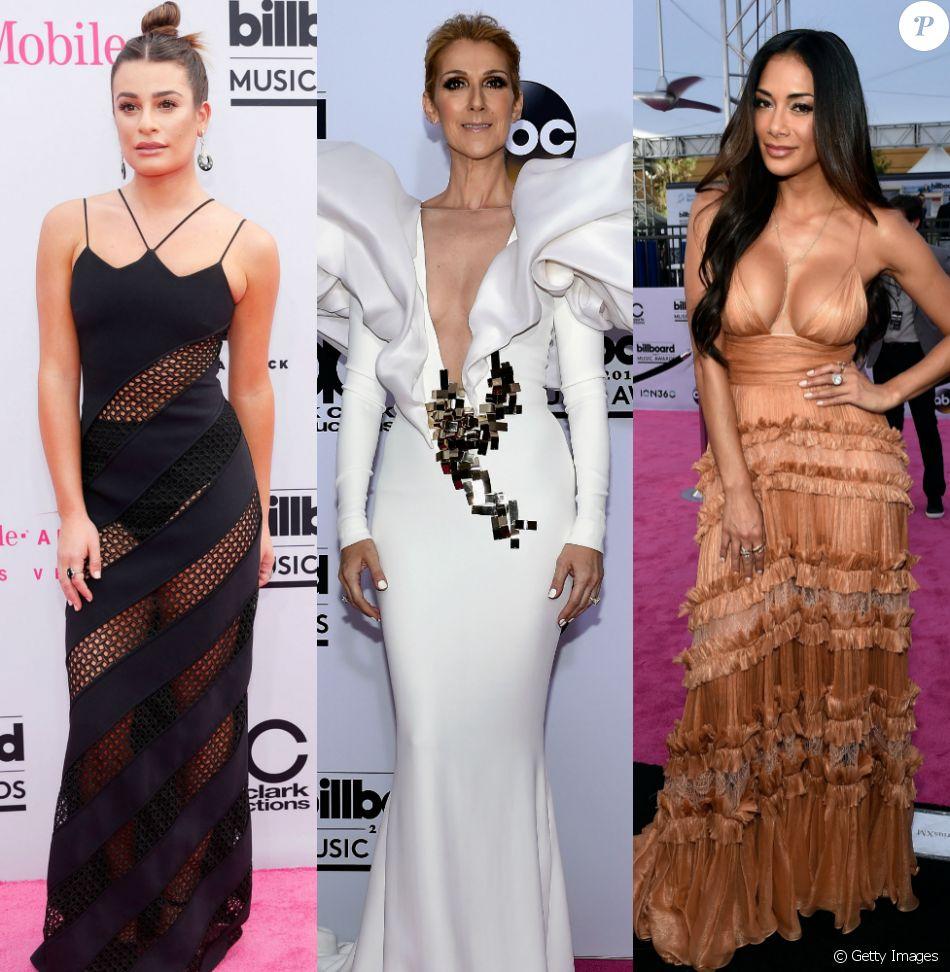 Lea Michele, Céline Dion, Nicole Scherzinger e mais. Veja os looks das famosas no Billboard Music Awards 2017!