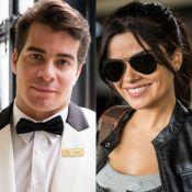 Thiago Martins se diverte com Vanessa Giácomo ao gravar novela: 'Faz bullying'
