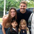 Grazi Massafera e Cauã Reymond comemoraram neste domingo, 28 de maio de 2017, o aniversário da filha, Sofia