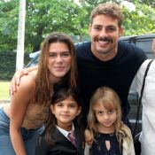 Grazi Massafera e Cauã Reymond levam namorados ao aniversário da filha, Sofia