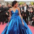 A modelo Winnie Harlow roubou a cena com um longo Zuhair Murad no segundo dia do Festival de Cannes, em 18 de maio de 2017