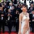 Emily Ratajkowski de Twinset na 70ª edição do Festival de Cannes, realizado no Sul da França