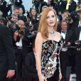 Jessica Chastain de Alexander McQueen na 70ª edição do Festival de Cannes, realizado no Sul da França