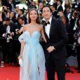 Lara Lieto, namorada do ator norte-americano Adrien Brody, chamou atenção no tapete vermelho do Festival de Cannes 2017