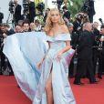A angel da Victoria's Secret Elsa Hosk na 70ª edição do Festival de Cannes, realizado no Sul da França