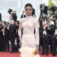 Maria Borges vestiu Balmain na 70ª edição do Festival de Cannes, realizado no Sul da França