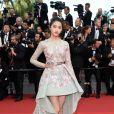 A atriz chinesa Guan Xiaotongna de Zuhair Murad na 70ª edição do Festival de Cannes, realizado no Sul da França