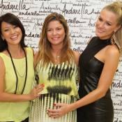 Grávida, Bárbara Borges participa de evento com Fiorella Mattheis, no Rio