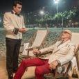 Nelito (Rodrigo Fagundes), amigo de Pedrinho (Marcos Caruso) e camareiro do Carioca Plaace, passa a subtrair itens do hotel para entregar ao ex-patrão na novela 'Pega Pega'