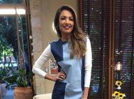 Patricia Poeta come pão recheado na TV e web zoa: 'Olha ela traindo a dieta'