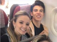 Larissa Manoela e Thomaz Costa viajam juntos após foto de beijo. Vídeo!