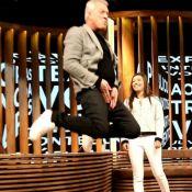 Pedro Bial aprende passo de funk na TV, dá 'sarrada no ar' e agita a web