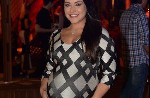 Thais Fersoza, grávida de 8 meses, chama atenção por barrigão em festa. Fotos!