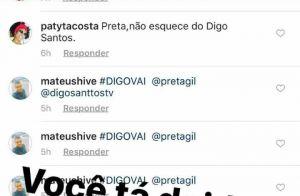 Preta Gil é chamada de 'orca' e usuário é removido do Instagram: 'Está doido?'