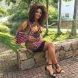 Juliana Alves, aos 5 meses de gravidez, precisou controlar o consumo de doces para o bem de Iolanda: 'De um mês para cá, estou mais regrada'