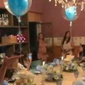 Andressa Suita, grávida, ganha chá de bebê de amigos: 'Surpresa linda'. Vídeo!