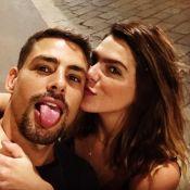 Cauã Reymond e Mariana Goldfarb prestigiam desfile de grife em Milão: 'Mi amor'