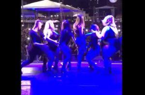 Anitta requebra com bailarinas plus size em show e agita público. Vídeo!