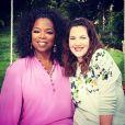 Drew Barrymore fala de sua infância difícil para Oprah em janeiro de 2013