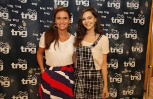 Giovanna Antonelli e Tainá Müller provam roupas para desfile no Fashion Rio