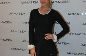 Giovanna Ewbank usa vestido curtíssimo em lançamento de coleção de grife em SP