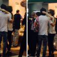 Enquanto namorados, Fiuk e Sophia Abrahão foram flagrados em momento carinhoso no aeroporto