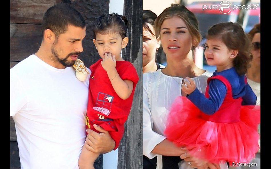 Cauã Reymond e Grazi Massafera se dividem nos cuidados da filha, Sofia