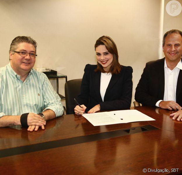 Rachel Sheherazade assinou contrato para trabalhar no SBT por mais quatro anos
