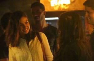 Isis Valverde curte jantar romântico com o ator mexicano Uriel del Toro, no Rio