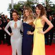 Taís Araújo, Grazi Massafera e Isabelli Fontana participam da première do filme 'Saint Laurent' no Festival de Cannes 2014, em 17 de maio de 2014