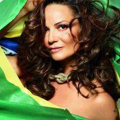 Luiza Brunet estrela ensaio para revista em clima de Copa: 'Estou me sentindo'