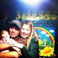 Debby Lagranha e Leandro Franco comemorando o terceiro mês de vida da filha, Maria Eduarda